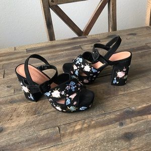 Embroidered TopShop Heels